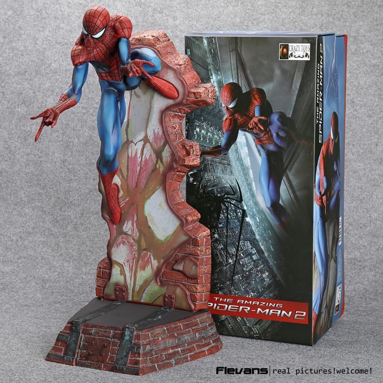 Crazy Toys Spiderman The Amazing Spider-man PVC Action Figure Collectible Model Toy 2 Styles crazy toys marvel amazing spiderman avengers pvc collectible figure model toys