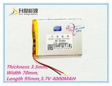 Бесплатная доставка 3.7 В 4000 мАч (полимер литий-ионный аккумулятор) литий-ионный аккумулятор для планшетных пк 7 дюймов MP3 MP4 [357095] бесплатная Доставка