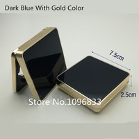 2pc 10pcs Empty Air Cushion Foundation Box Cosmetic BB Cream Container Magnetic Square Elegant BB Cream Case Container Blue Gold