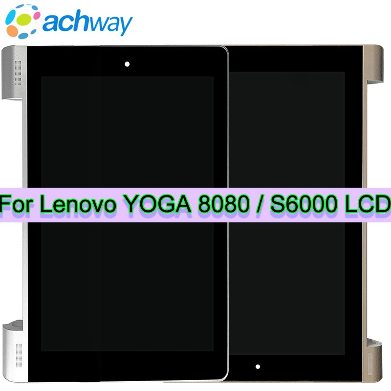 Original 10.1 Lenovo YOGA B8080 B8000 Tablet 10/ S6000 +LCD Display with Touch Screen Digitizer Sensor Full Assembly Tablet Pc