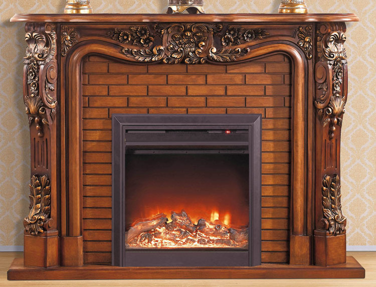wooden fireplace mantel with electric fireplace insert hearth