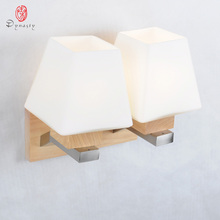 Europe Style Modern Wall Lamp Art Decorative Wooden Wall Lights Original Oak Foyer Bedroom Mater Room Restaurant Cafe Dynasty недорого