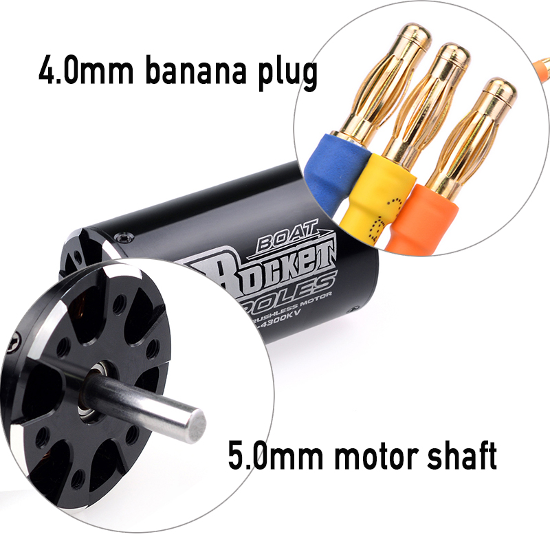 Image 4 - SURPASSHOBBY Rocket 3660 3250KV 2600KV 4P Brushless Motor for Traxxas M41 Catamaran Spartan 800mm 1000mm RC Boat Car-in Parts & Accessories from Toys & Hobbies