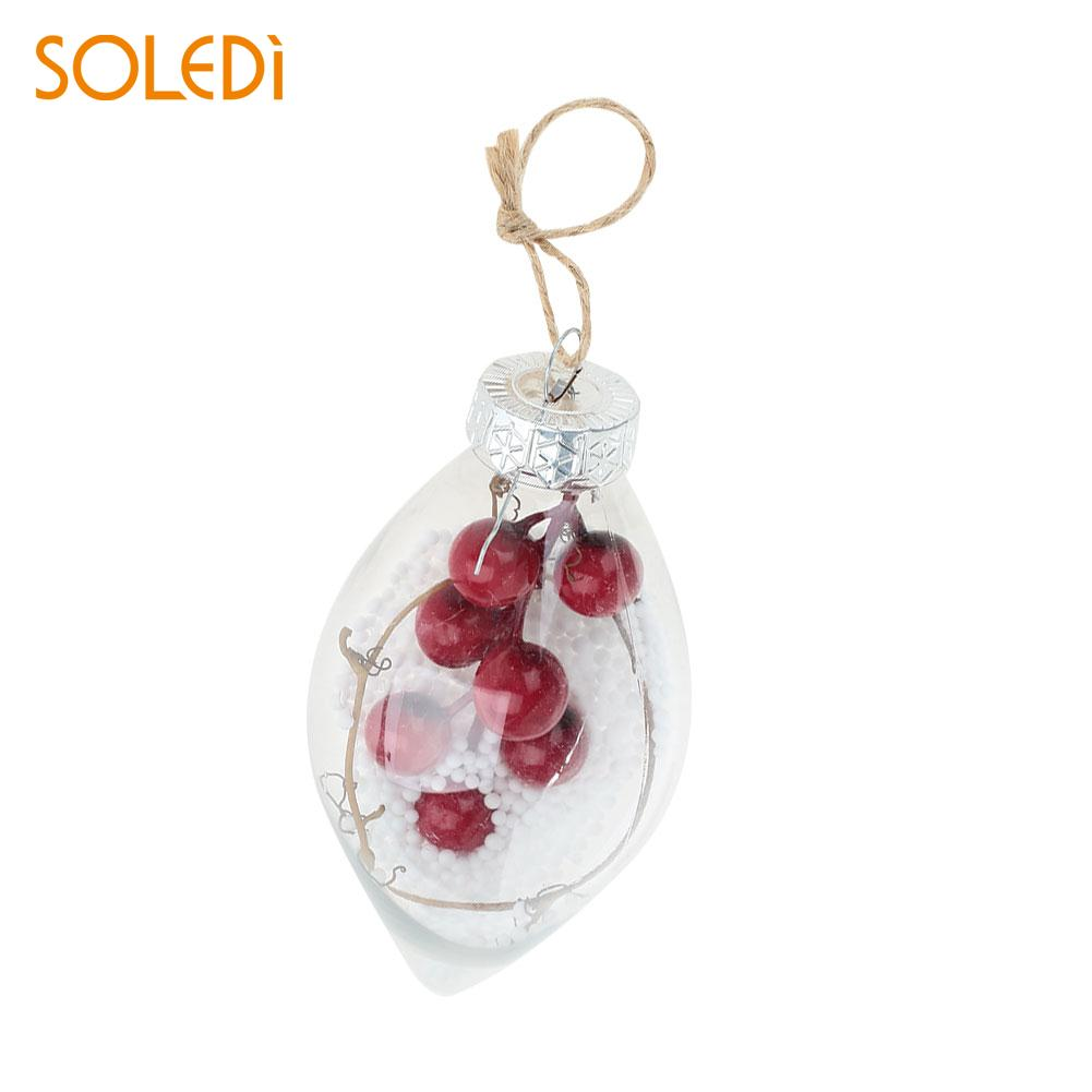 Fashion Christmas Ball Christmas Tree Pendant Transparent Ball Plastic Ornament Hotel Bauble Ball Christmas Eve