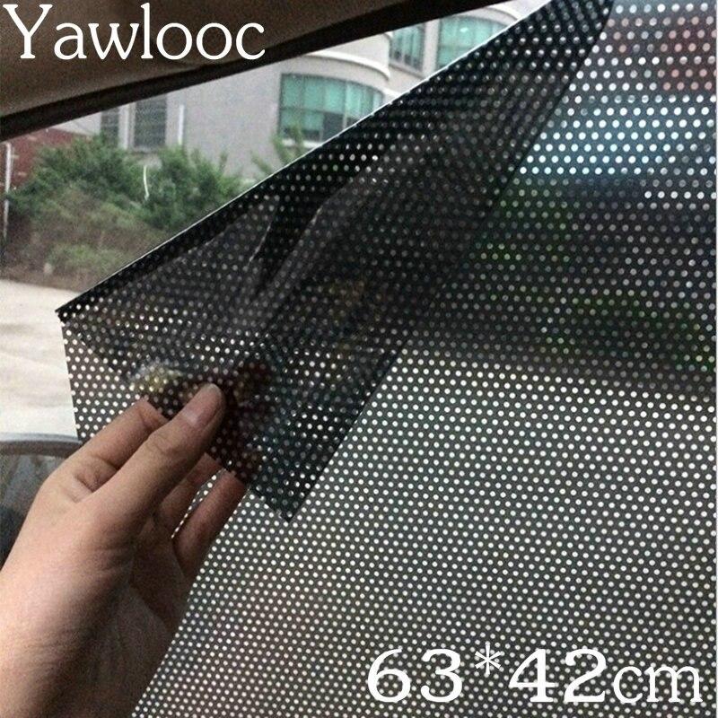 2 pcs/lot 63*42 cm Uv Autocollant De Voiture Parasol Électrostatique Autocollants Auto Statique Film Force D'adsorption Parasol Autocollants De Voiture style