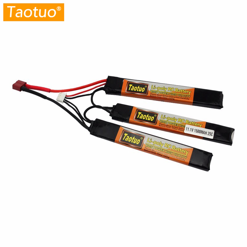 Taotuo Power Lithium Lipo Battery 11 1V 1500MAH 25C 3S Mini Airsoft Guns Battery Rc Model