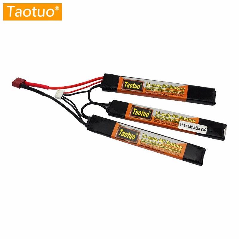 Taotuo Puissance Au Lithium Lipo Batterie 11.1 V 1500 MAH 25C 3 S Mini Airsoft Batterie Rc Modèle Jouet Pièces Bateria