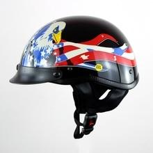 Soman 103 DOT Ретро Классический череп Мотоцикл Портативный шлем Германия Стиль мотоцикл унисекс Capacetes защитные шлемы