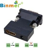 1080 마력 여성 HDMI 남성 컨버터 어댑터 동글 3.5 미리메터 스테레오 오디오 2017 새로운 높은 품질 도매 Price_KCL0426
