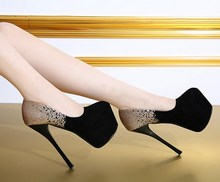2015 sexy high heeled shoes 15 thin heels single shoes gradient elegant 16cm women s shoes