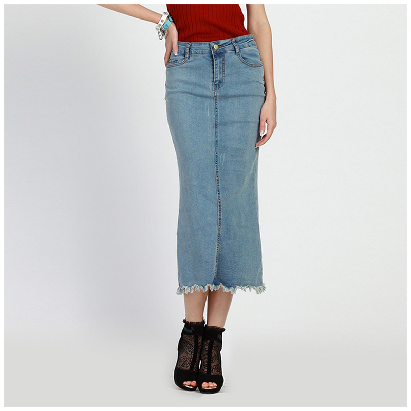 Popular Long Plus Size Jean Skirts-Buy Cheap Long Plus Size Jean