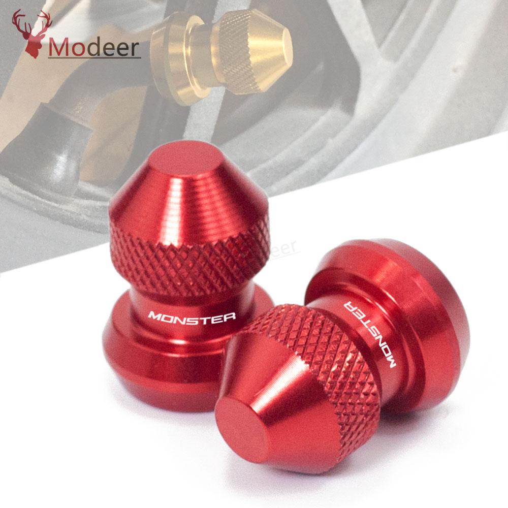 2018 2017 Motorcycle Wheel Tire Valve Stem Caps CNC Airtight Covers For Ducati Monster 696 821 796 1200 620 797 900 600 1100