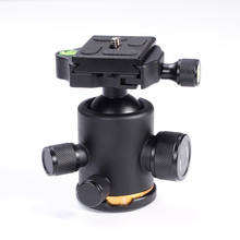 "12Kg Metal Swivel Camera Tripod Ball Head Rocker+1/4"" Screw Mount Quick Release Plate QR"