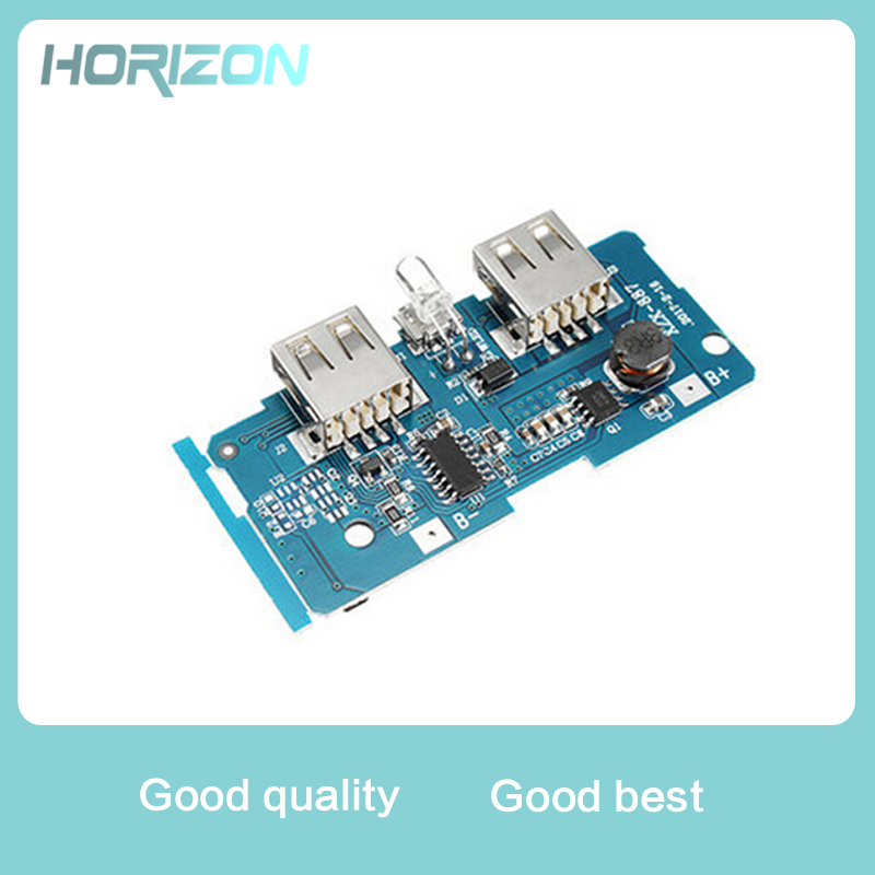 5V 2A Power Bank Charger Circuit Board Portable Power Supply Module Step Up Board Double USB Output For DIY
