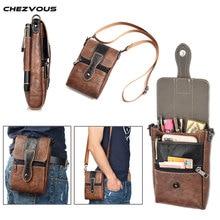 цена на CHEZVOUS 6.3'' Universal PU Leather Fashion Phone Bag Shoulder Pocket Wallet Pouch Case Waist Belt Bag for iphone 7 6 plus 8 6s