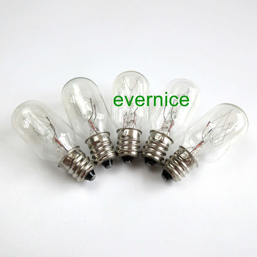 "2 Brand New Clear Screw In 15W Light Bulbs 7//16"" for BROTHER Sewing Machines"