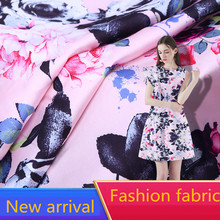 2019 New Arrival Wholesale (1meter/lot) Summer Soft Silk Chiffon Fabric Printed  for Making Women Dress Width 160cm Hot Sell