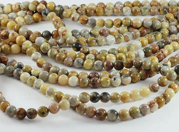 4//6//8//10mm Redondo Natural Piedra Preciosa Piedra de Ojo de Tigre granos flojos joyería haciendo