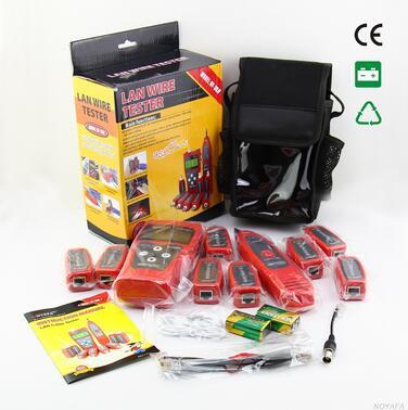 Бесплатная доставка, noyafa nf-388r ЖК-дисплей Кабельный тестер LAN тестер wiremap для сетевых кабелей с 8 пультов Добро пожаловать oem