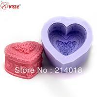 Hansmade stampo in silicone a forma di cuore Nuovo stile grande caldo di vendita all'ingrosso di cioccolato muffa della Torta decorazione strumenti (CH148)