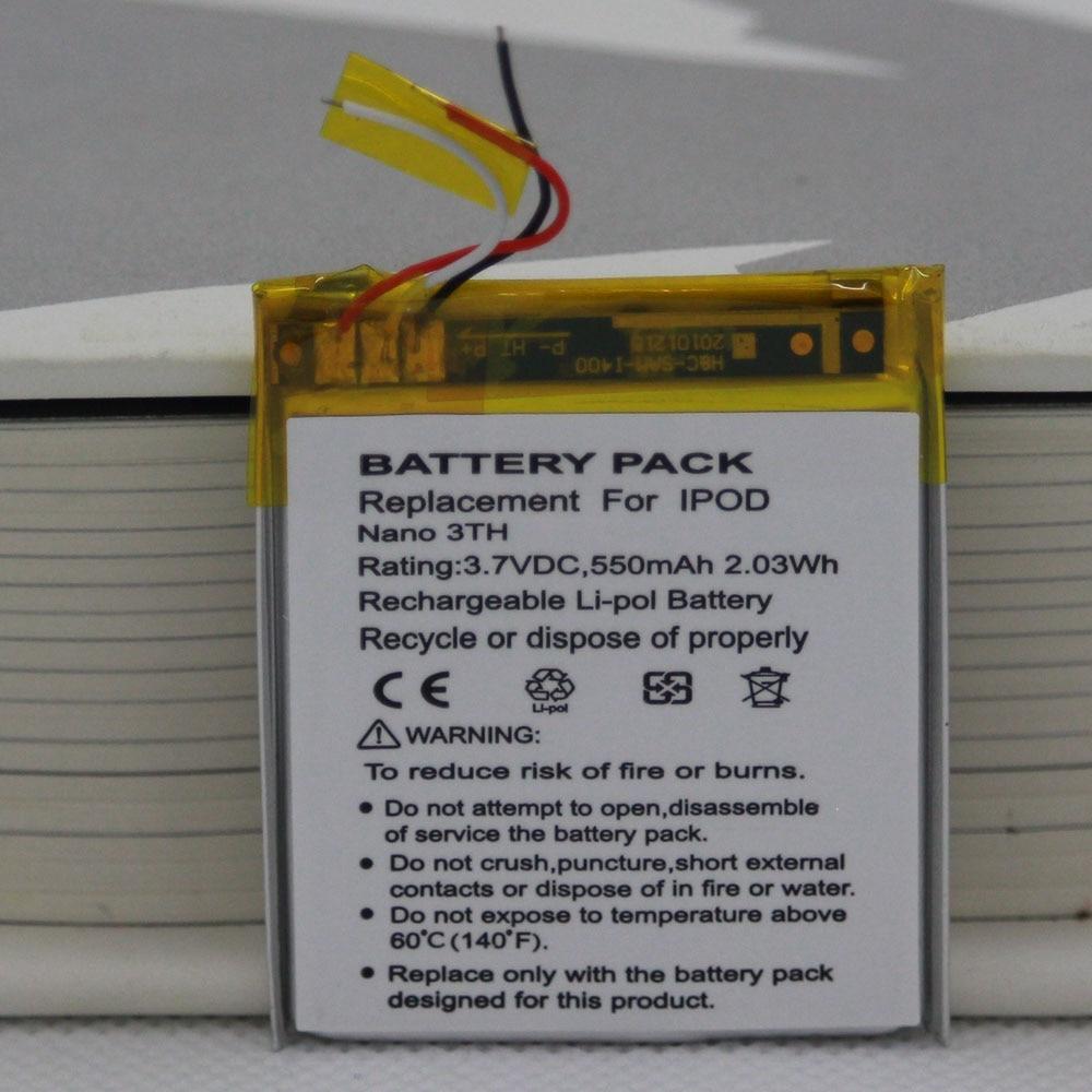 ISUNOO Nano Battery For Nano3 Battery Replacement 3.7V Li-ion Battery Replacement for iPod Nano 3 3rd Gen Battery with Tools(China)