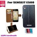 Virar couro Smartphone Case capa para SENSEIT E500 bolsa capa Slots de cartão carteira 7 cores