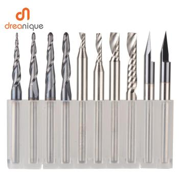 CNC Solid Carbide engraving bits milling cutter woodwork set 3.175mm 6.35mm 6mm shank router bits for carving wood tools 120 degree 6mm shank cnc engraving v groove wood router bit 3d groove router bits woodworking cutter carving tool