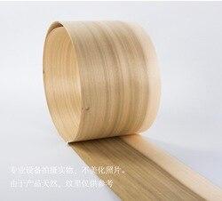 1 шт. Длина: 2,5 м Толщина: 0,52 мм ширина: 15 см натуральное дерево тополя древесина для отделки мебели Восстановленный шпон