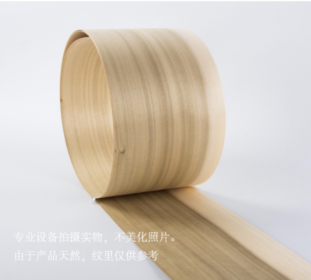 1Piece Length: 2.5 Meters  Thickness:0.52mm  Width: 15cm  Natural Poplar Tree Wood Veneer Furniture Refurbished Veneer
