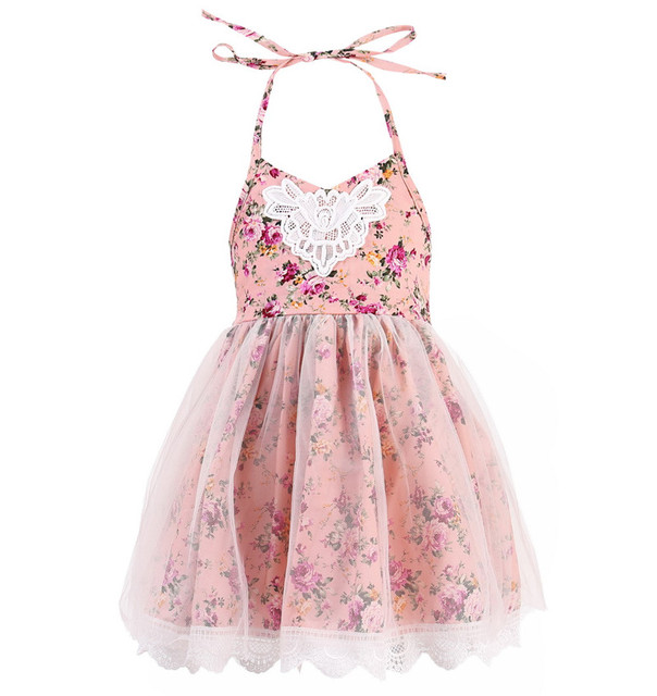 Kids Pageant Birthday Party Wedding Ball Gown Prom Princess Girls Dress Kids  Lace Flower Girls Belt Dress Toddler Clothes aed1395700dd