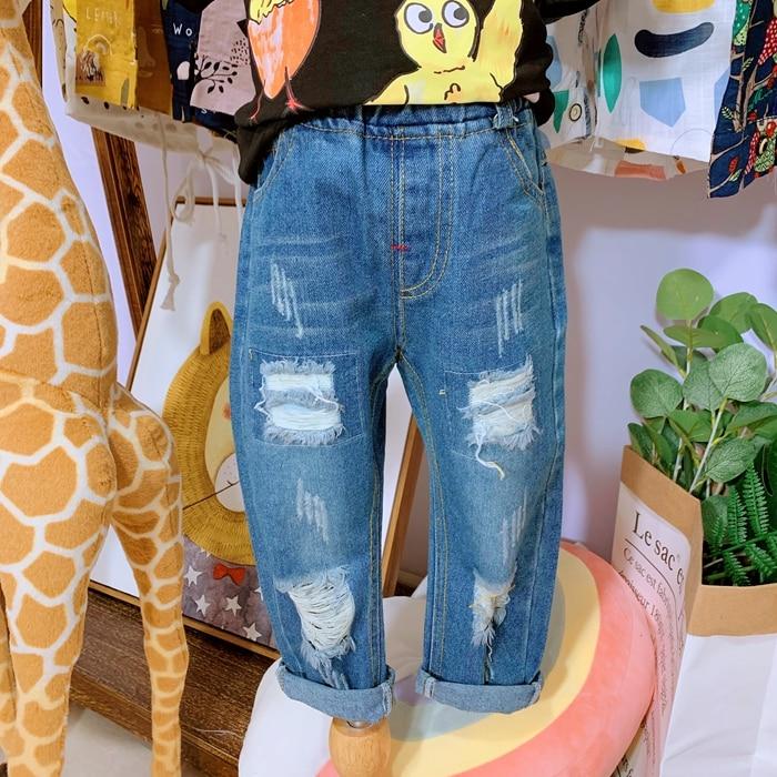 horký! jaro podzim nový chlapeček džínové kalhoty děti dětská díra džíny ležérní kalhoty