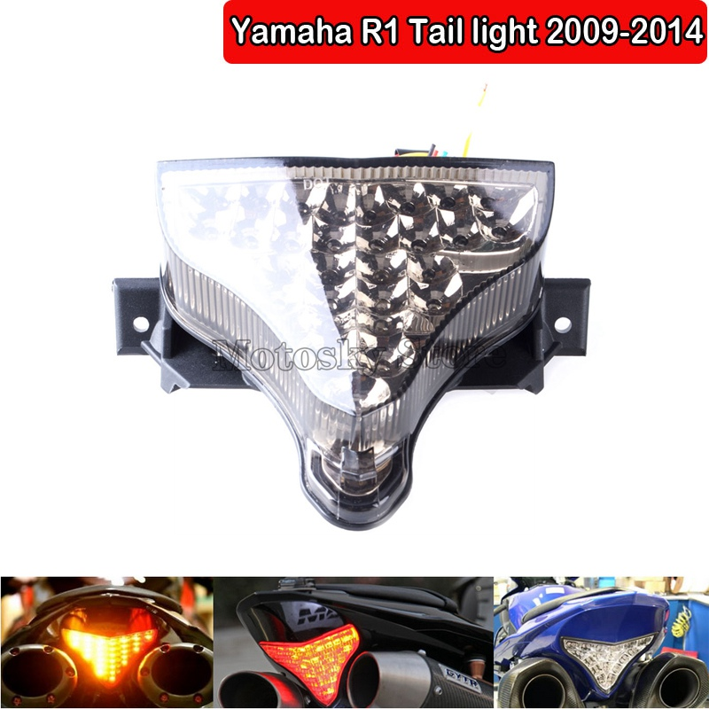 Moto Taillights Integrated LED Taillight Brake Turn Signals Indicators for Yamaha YZF 1000 R1 2007-2008 Artudatech Motorcycle LED Tail Light