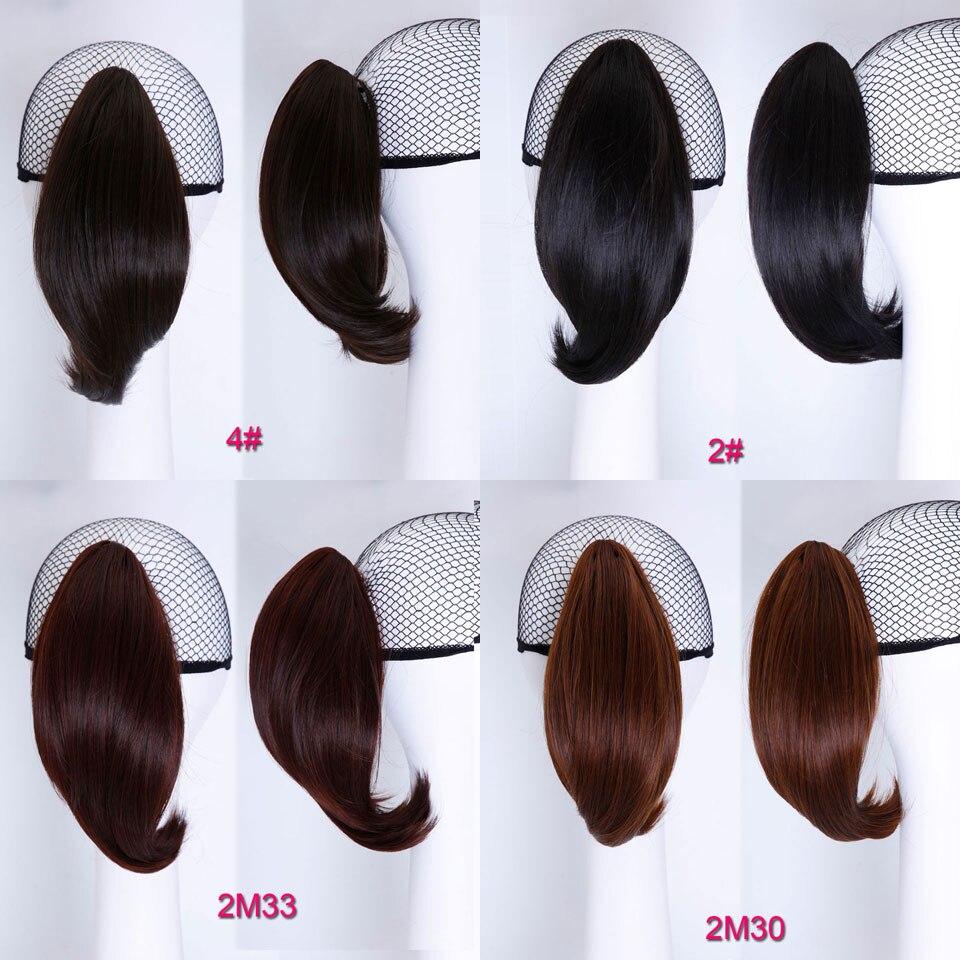 SHANGKE Hair 6 '' Short Hästsvans Naturlig Svart Klaw Drawstring - Syntetiskt hår - Foto 3