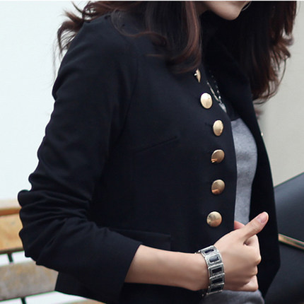 2019 Spring Short Suit Double Breasted OL Women Short Blazer Jacket