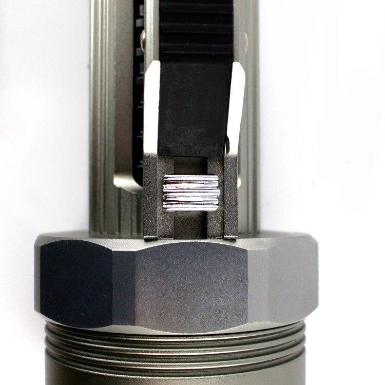 ANJOET Portable lighting Super bright Lantern Silver/Black Underwater Flashlight 6000LM 6*XM L2 LED Waterproof Diving lamp - 5