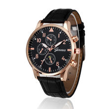 Fashion Retro Design Leather Band Analog Alloy Quartz Wrist Watch Relogio Masculino mens watches top brand luxury New kol saati