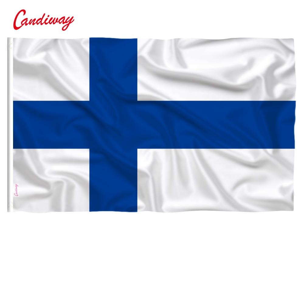 FINNISH BLUE CROSS SINIRISTILIPPU MOTORCYCLE BIKER PATCH FLAG OF FINLAND