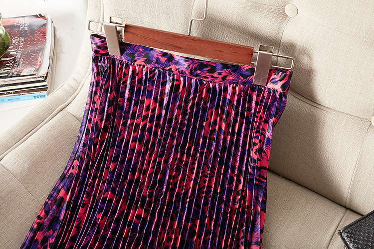 Летняя женская модная плиссированная юбка с принтом A086 - 5