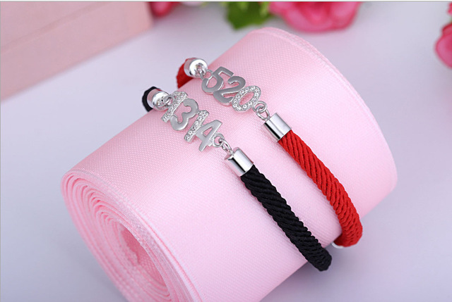 2016 New Red Rope Jewelry Couple Bracelet 5201314 Couples Lifelong Bracelet