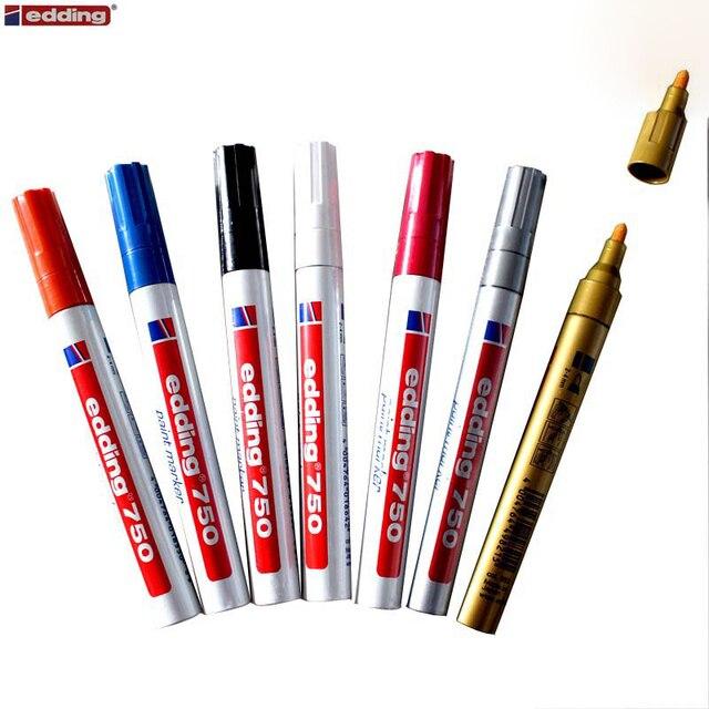 4 قطعة ألمانيا EDDING 750 الطلاء الملونة قلم تحديد 2 مللي متر عالية الجودة الصلب علامة