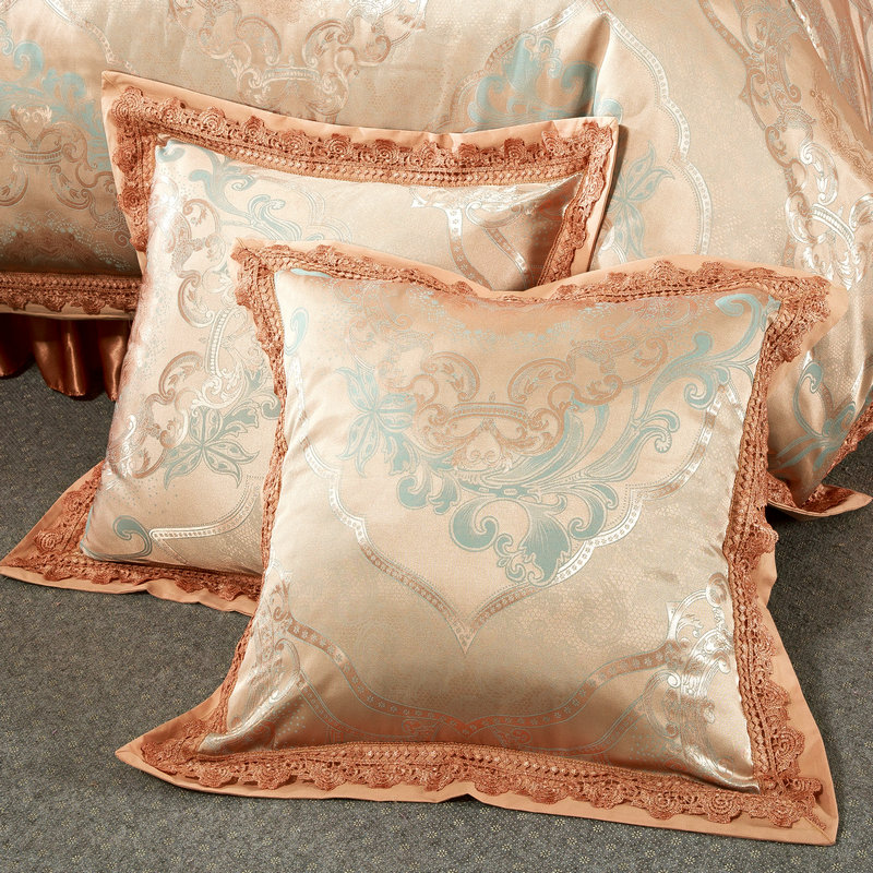 Luxury European Style Jacquard Bedding Silk Cotton Blend Queen King Size 4 6 7pcs Duvet Cover Bedskirt Sheet Pillow Case in Bedding Sets from Home Garden