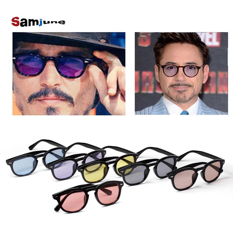 ffed300b2bb Samjune Sunglass Men Shades Brand Designer Sun Glasses Women Johnny Depp  Rivet Eyewear Candy Color Sunglasses