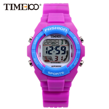 Time100 Kids Watches Boys Girl Sport  LED Digital Watch Rubber Alarm Chronograph Timing Cartoon Electronic Wrist Watches Clock