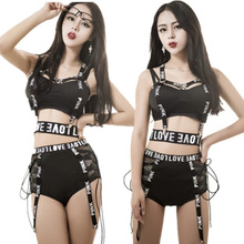 2020 New Fashion Female Sexy Bar+Shorts+Belt Ds Costumes Lead Dancer Nightclub Singer Clothing Jazz Performance Dance Costume silver sequins sparkling mirrors dress sexy nightclub bar dj ds costumes female singer leading party performance one piece dress