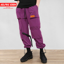 Aelfric Eden Buckle Straps Cargo Pants Hip Hop Multi Pockets Baggy Man Joggers Casual Sweatpants Male Streetwear Trousers NC01(China)