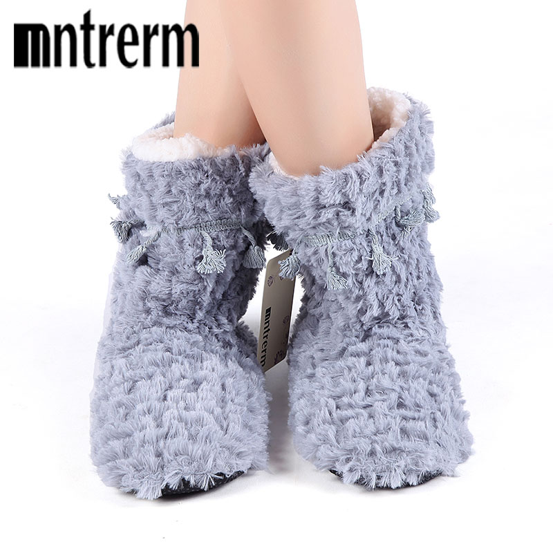 Mntrerm 2018 Women Winter Warm Ful Slippers Women Slippers Cotton Sheep Home Slippers Indoor Plush Size House Shoes Woman Gifts mntrerm 2017 winter warm indoor slippers cute elephant cartoon animals slippers for women flannel home slippers send family gift