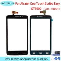 Alcatel One Touch Scribe 용 onetouch 패널 Easy OT 8000 8000D OT8000 ot-8000d 8000e 디지타이저 전면 센서 유리 렌즈 + 도구