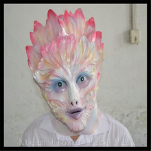 Halloween Party Cosplay100% High Quality Latex Cosplay Flower Faerie mask scary halloween Lady Women mask Funny Face Mask