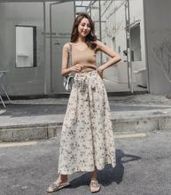 2019 summer new high waist wide leg pants sexy ope