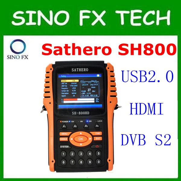 original Sathero SH-800HD DVB-S2 Digital Satellite Finder Meter HD Output with Spectrum Analyzer Sathero SH 800HD in stock factory latest version dm 800hd se s sim2 10 wifi sunray 800se 800hd se dvb s2 satellite receiver linux